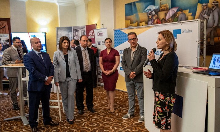 First edition of the Gozo Business Expo on today at the Grand Hotel