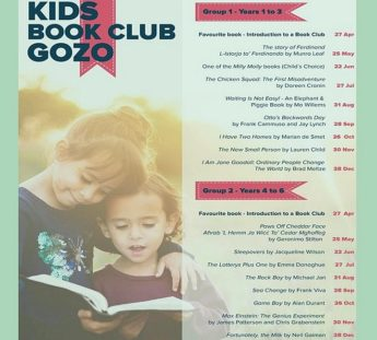 Kids Book Club Gozo every month at the Gozo Central Public Library