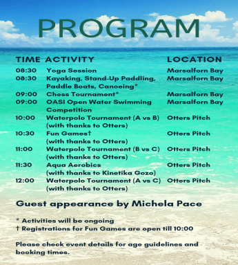 OASI Aqua FunDay for all the family to enjoy at Marsalforn Bay
