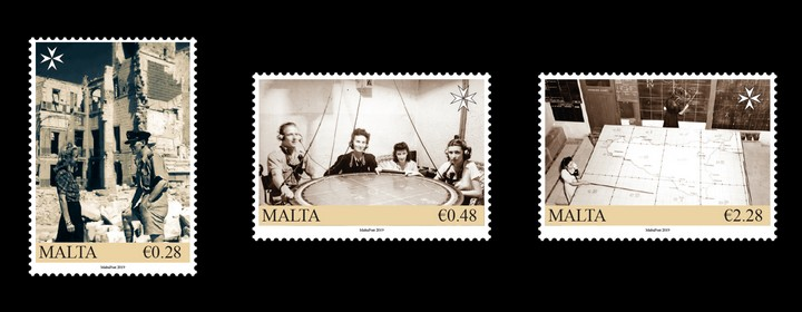 Malta at War - The Map Plotters new stamp issue from MaltaPost