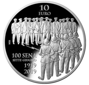 Silver coin issue to mark centenary of the Sette Giugno riots
