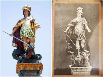 Victoria's Statue of St George to visit Citta Pinto in Qormi