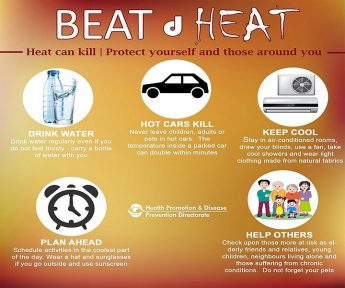 Beat d Heat - Health authorities advice to beat the high temperatures
