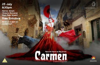 Open-air opera on the big screen with Carmen in the heart of Victoria