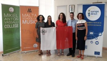 Two Gozitan students represent Malta at Europe en Berry Touraine