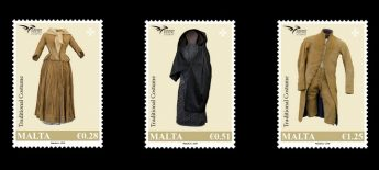 Traditional Costumes feature in latest MaltaPost stamp issue